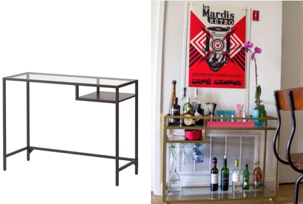 Ikea-hack: 3 sätt att förvandla ditt Vittsjö laptopbord till en snygg drinkvagn