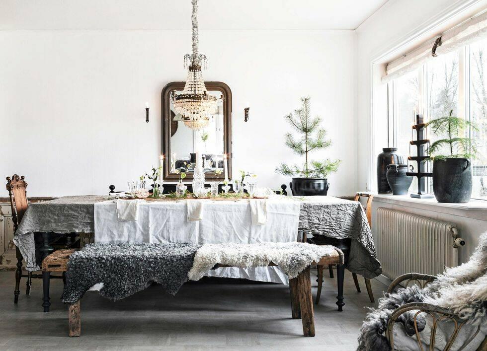 Titta in i det här vackra hemmet – en riktig vinterdröm
