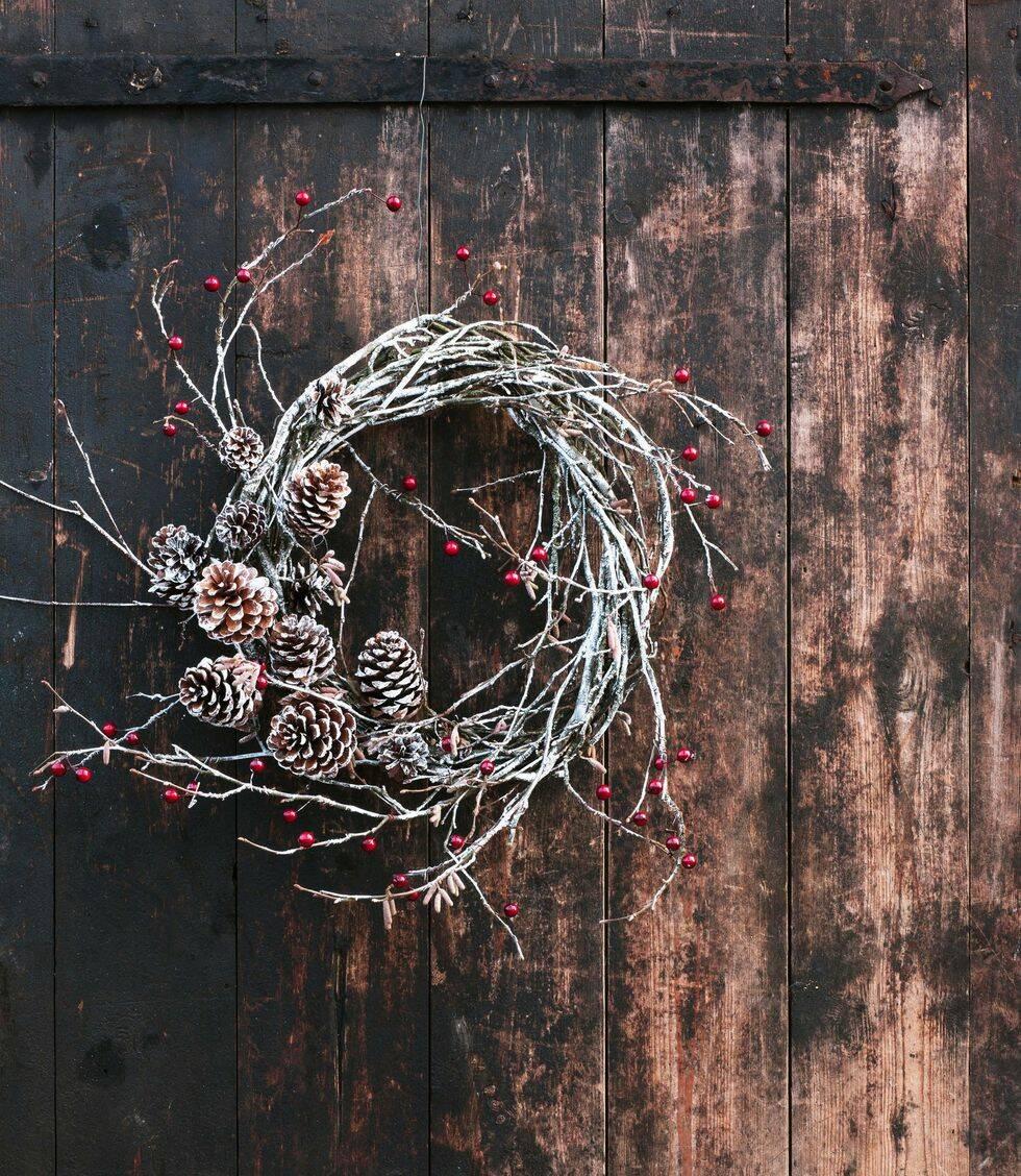 Så här binder du en annorlunda krans i jul – 5 fina tips